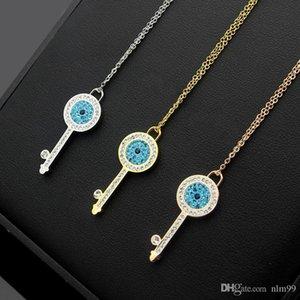 Nlm99 USpecial 2019 Fabbrica diretta diamante blu collana di chiave della collana di chiave donna diamante bianco diamante di trasporto