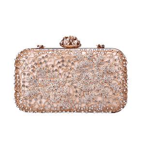 cristal rose sac à bandoulière sac de soirée de luxe bling bourse partie Top diamant Boutique femmes d'argent d'or de mariage sac d'embrayage jour