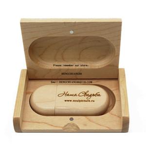 Free Customize LOGO USB flash drive 1 2 4 8 16 32 64 128gb pen drives Maple wood usb stick Carve artwork wood u disk 32GB with wood box