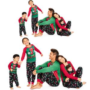 Emmababy 2019 XMAS família Matching Natal Pijamas Set de Mulheres Homens Crianças Pijamas Roupa de Noite