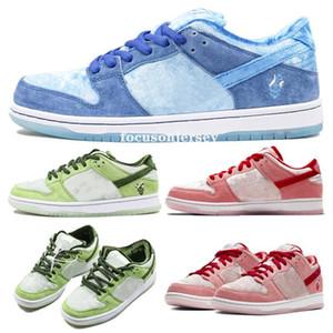 NEW StrangeLove x SB Dunk Low Designer Skateboard Sneakers Men Women running shoes Valentine Day Pink Blue Green Trainers Chaussures 36-45