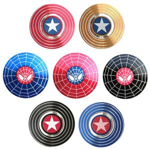 Рука Spinner игрушки Капитан Америка Человек-паук Непоседа Spinner Fingertip Гироскоп Finger волчок Decompression Тревожные игрушки