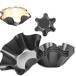 8 Paketi Tortilla Bowl Kalıplar Mükemmel Tortilla Pan Yapışmaz Taco Shell Tortilla Pan Maker Salata Kase