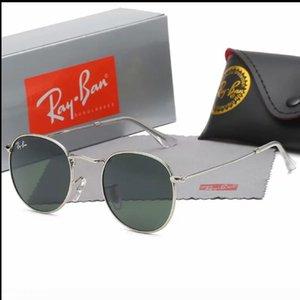 2020 Banda Piloto caliente nueva Ray3447ban gafas de sol de la vendimia de la protección UV400 para mujer para hombre Hombres Mujeres Ben gafas de sol con la caja del caminante