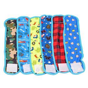 Nueva perro macho 4 piezas de pañales duradero del vientre del perrito pañales de tela transpirable de algodón perro Dog Band Wrap Pantalones fisiológicos