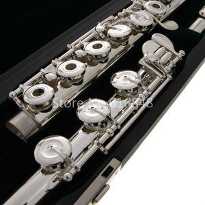 New Pearl Quantz 665 Marca 17 Fori Chiavi Flauto di Open argento Cupronickel placcato Superficie Flauto musicale con il caso dello strumento