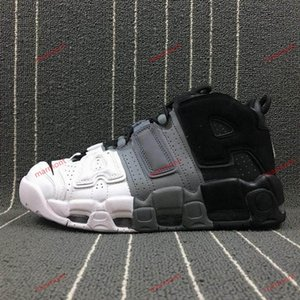 xshfbcl 2019 Air More Uptempo Women Mens Casual Shoes, High Quality Tri-Color Scottie Pippen PE Triple White Athletic Casual Shoes US5.5-13