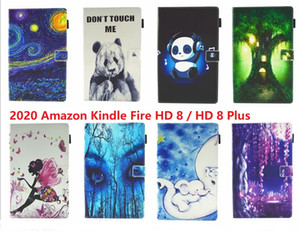 smart cover For Amazon Kindle Fire HD 8 Plus 2020 Tablet Cover For Fire HD8 Plus Stand Case