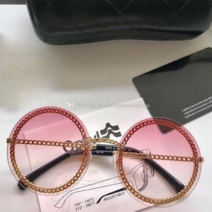 4245 Luxury Sunglasses Women Round Sunglasses UV Protection Lens with Chain Fashion Modern Design Eyewear