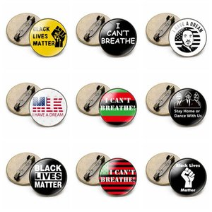 JE NE RESPIRE Brooches Lives Noir Matter Parade George Floyd Pin Brooches Badge Party Favor 9styles RRA3139