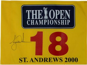 Tiger Woods Firmato 2000 British a St. Andrews Pin Flag