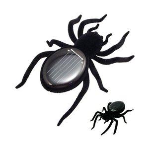 Çocuk Yaratıcı Siyah Dayanıklı Mini Örümcek Tarantula Trick Oyuncak Eğitici Robot Korkunç Böcek Gadget Güneş Enerjisi Örümcek Oyuncak
