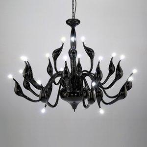 Modern Led Lustre Art Deco Europeu Vela LED Lustres Teto Quarto Sala de Jantar Sala de Jantar Decoração Lustre