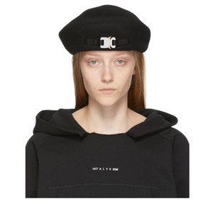 2019 1017 ALYX STUDIO LOGO laine hommes béret noir et blanc et les femmes Hip Hop Outdoor rue chapeau chaud