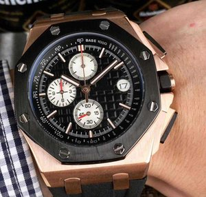 2020 High Quality Best Men \&#039 ;S Watch 44mm Multi -Function Dial High Quality Japan Imported Quartz Chronograph Authentic Strap Watches