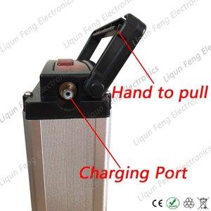 후면 랙 알루미늄 케이스 500W 24V 18AH 전기 자전거 리튬 이온 배터리 사용 20A BMS 2A 충전기와 삼성 3000MAH 셀