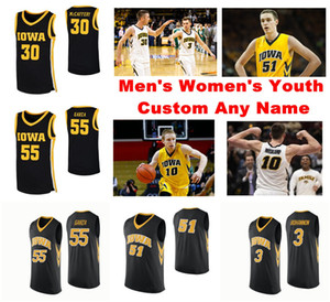 Iowa Hawkeyes Jerseys Luka Garza Jersey Aidan Vanderloo Connor McCaffery Cordell Pemsl NCAA College Basketball Jerseys Mens Custom Stitched