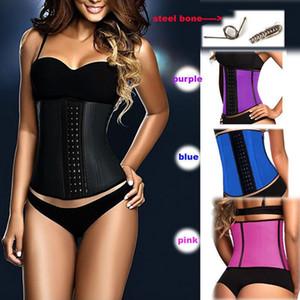 Hot Waist Trainer Corset 9 Fajas de hueso de acero Body Shapers Mujeres Corsé Belt Waist Shaper Cinta Modeladora