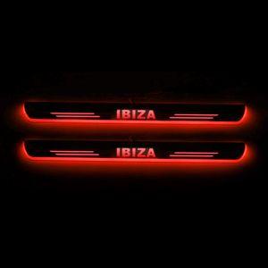 Déplacement LED Bienvenue Pédale voiture Plaque Pédale Porte Scuff Sill Pathway Lumière pour SEAT IBIZA 2009 - 2017 2018