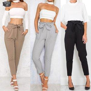 Solide Femmes Crayon Stretch Casual Maigre Taille Haute Jeans Jeans Pantalons Longs Pantalons Livraison Drop de Bonne Qualité