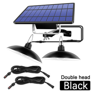 Double Head Emergency Light 520LM ABS Split LED Solar Pendant Camping Light With 6M Line Solar Lamp Indoor Outdoor