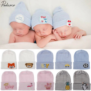 2020 Baby Stuff Accessories Baby Soft Turban Newborn Hat Lovely Winter Warm Beanie Crochet Knit Embroidery Patch Cap