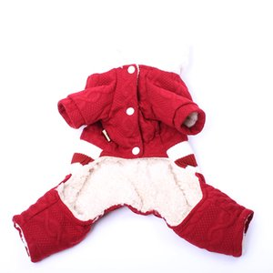 Striped Dog Cat Warm Hoodie Jumpsuit Pet Puppy Coat Jacket Winter Warm Clothes Apparel