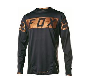 FOX 긴팔 T 셔츠 내리막 의류 산악 자전거 사이클링 의류 재킷 여름 오프로드 오토바이 의류 긴 sleev을 빠른 건조