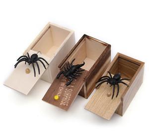 Silicone Sorpresa Spider Scatola di legno divertente di burla di scherzo animali Giocattoli Terrore Tricky Toy Fit decorazioni domestiche nuovo arrivo