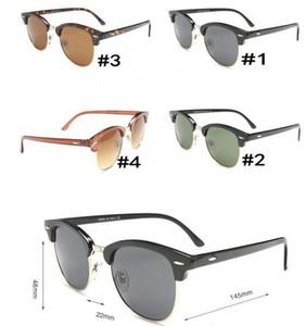 Occhiali da sole Plank Occhiali da sole con cerniera in metallo Occhiali da sole da uomo neri Occhiali da sole firmati Designer Occhiali UV400 Occhiali da sole Lenti verdi