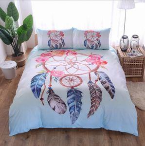مباركة كبيرة الألوان Dreamcatcher Set 3 Piece Dream Catcher Davet Cover Set Boho Doona Cover Hippread Bedspread