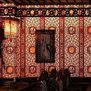 Китайская классических обои имитации дерево окна резьбы панель стена ролл спальня гостиная кабинет коридор ТВ фона настенного покрытие