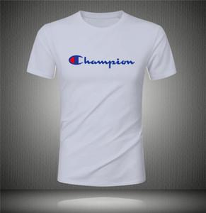 Wholesale tee clothing Men's T-Shirts hip hop clothing mens designer shirts plus black white cham̴pion