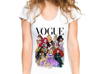 2019 T-shirt personnalisé pour femmes dans la mode européenne et américaine Barbie Princess imprimé à manches courtes