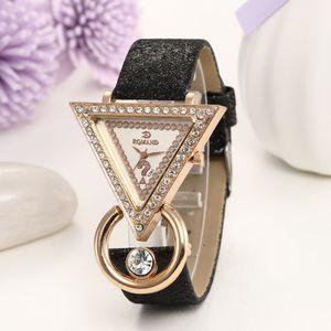 Cross-Border Hot Selling Watch a Generation Triangle Question Mark Diamond Set Fashion Watch Womens Fashion Accessories Watch