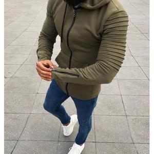 Mens Moletons Designer Tops cor sólida para a roupa dos meninos Zipper com estilo Cap Novo britânico 2020 Meninos Casual Wear 4 Styles Tamanho S-5XL