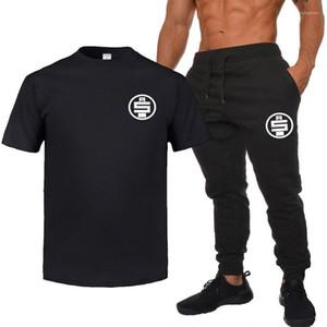 여름 운동복 디자이너 남성 티셔츠 바지 2 개 의류 세트 반바지 바지 정장 hussle 남성을 nipsey