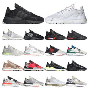 Top qualité Nite jogger EQT chaussures de course réfléchissantes  pour hommes, femmes triple espadrille sport formateur de mode respirant noir blanc 36-45