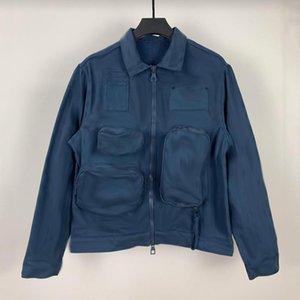 20FW жаккарда монограммы Logo Куртки Basic ретро Logo Monogram Denim Jacket Печать Мужчины Женщины Верхняя одежда Классическая мода куртки HFYMJK290