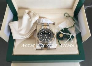 Súper fábrica V5 Edición 2813 Movimiento de calidad superior de 40 mm Zafiro luminiscentes reloj 116613 116613LN cerámica Dos tono Oro negro caja original