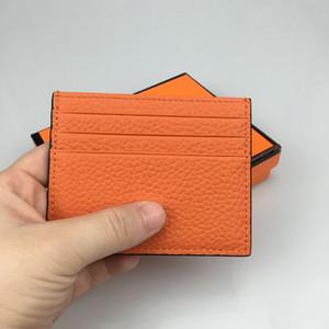 Cartera de lujo nueva billetera para hombres titular de tarjeta de crédito de sección delgada Juego de tarjetas de visita de cuero 100% Tarjeta de identificación pequeña billetera regalo caja de envío gratis