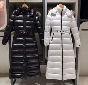 Vers le bas parkas de femmes de grande taille longue épaisse manteau femme hiver à capuchon nouveau ski loisirs de plein air authentique loose européenne couleur unie 16V