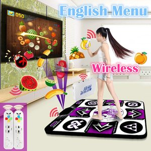 Original KL English menu 11 mm thickness single dance pad Non-Slip Pad yoga mat + 2 remote controller sense game for PC & TV Y200413