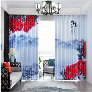 Neue Vorhänge neue chinesischen Stil einfache Schlafzimmer moderner Stil Wohnzimmer Verdunkelungsvorhänge 3d Vorhänge