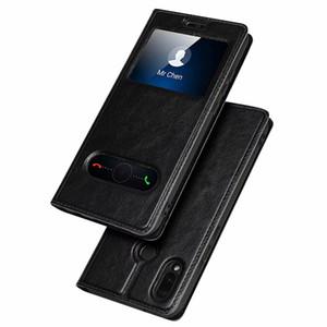 Pour Huawei P20 Pro Couverture Huawei P20 Lite / Mate 10 Pro Couverture Magnétique Vue Fenêtre Support de Téléphone Téléphone Flip En Cuir De Protection Shell Case