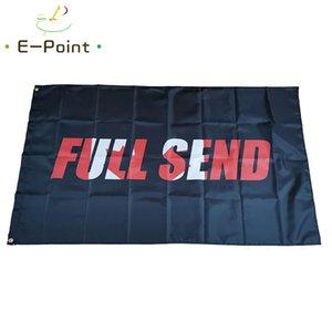 Fond noir Canada Plein Envoyer Drapeau 3 * 5 pi (90cm * 150cm) Polyester drapeau décoration bannière de vol jardin maison drapeau cadeaux de fête