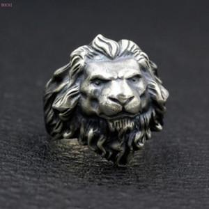 Leo Lion King Ring 925 чистого серебро тайского серебра личности Мужской хранители Кольцо для мужчин
