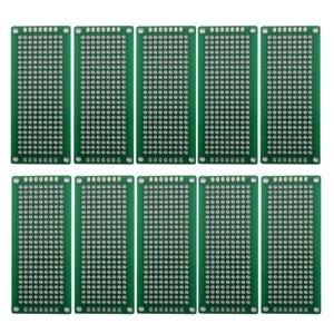 3x7cm العالمي ضعف الجانب PCB مجلس اللوح النموذج PCB المعلبة 10PCS