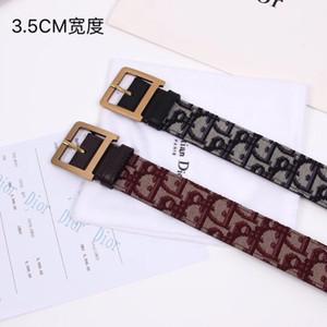 2019 nouvelle ceinture pour femmes avec ceintures en cuir importées pour femmes lettre d image couture ceintures largeur strass: 3.5cm