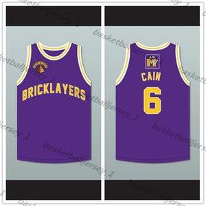 Una medida que Dean Cain 6 Albañiles Baloncesto Jersey 5th Annual Rock N' Jock B-Ball Jam 1995 -1 hombre tamaño de la juventud S-5XL cualquier número nombre
